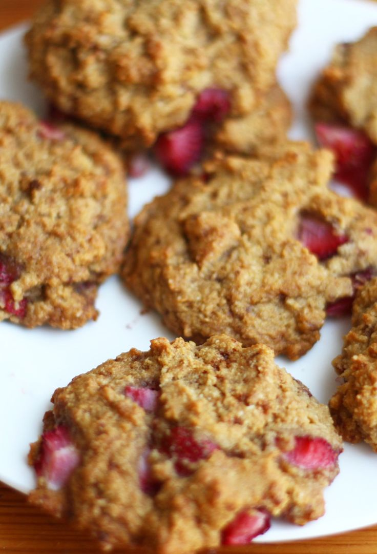 Strawberry Cookies These gluten-free, dairy-free cookies are full of healthy ingredients and super simple to make, too.
