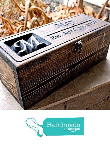 Personalized Wine Bottle Box,Wedding wine box, anniversary gift, wedding shower gift, First Fight Box (CWD-41) from Custom Wood Design