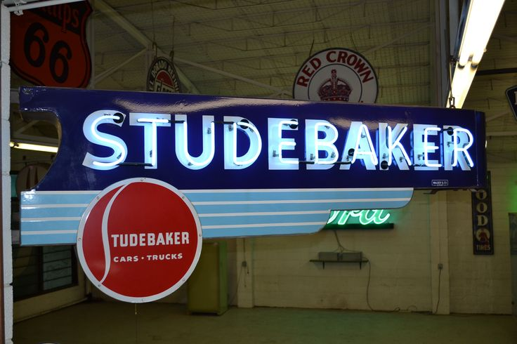 Studebaker DSP neon dealership sign More signs Pinterest