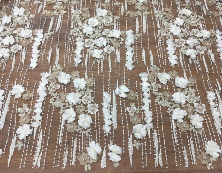 lace fabric,beaded lace fabric,ivory lace fabric,wedding lace fabric,french lace fabric,3d lace fabric,tulle lace fabric,bridal lace fabric by Jennylacefabric on Etsy
