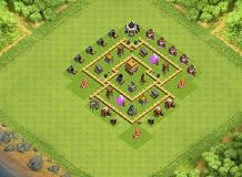 hhh TH 5 Clash of Clans Base Layout