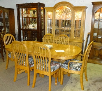 solid oak dining room set treasure chest pinterest