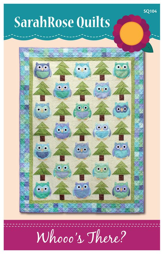 Whooo's There  Owls Machine Applique Pattern by SarahRoseQuilts,