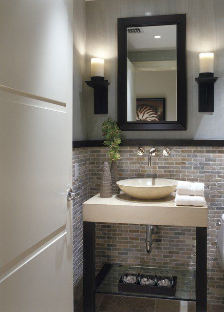 Amazing 25 Modern Powder Room Design Ideas