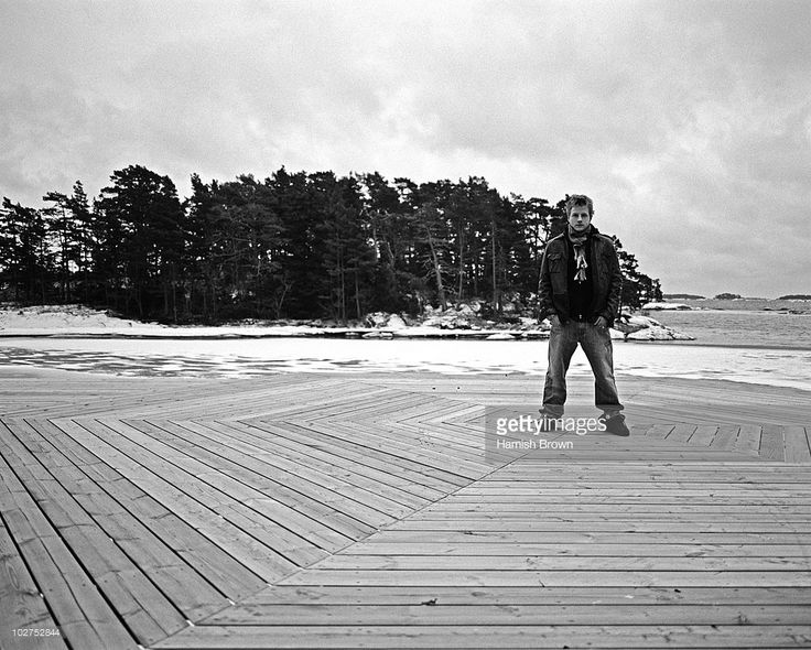 Formula One racing driver Kimi Raikkonen poses for a portrait shoot for GQ Germany at home in Helsinki, Finalnd.