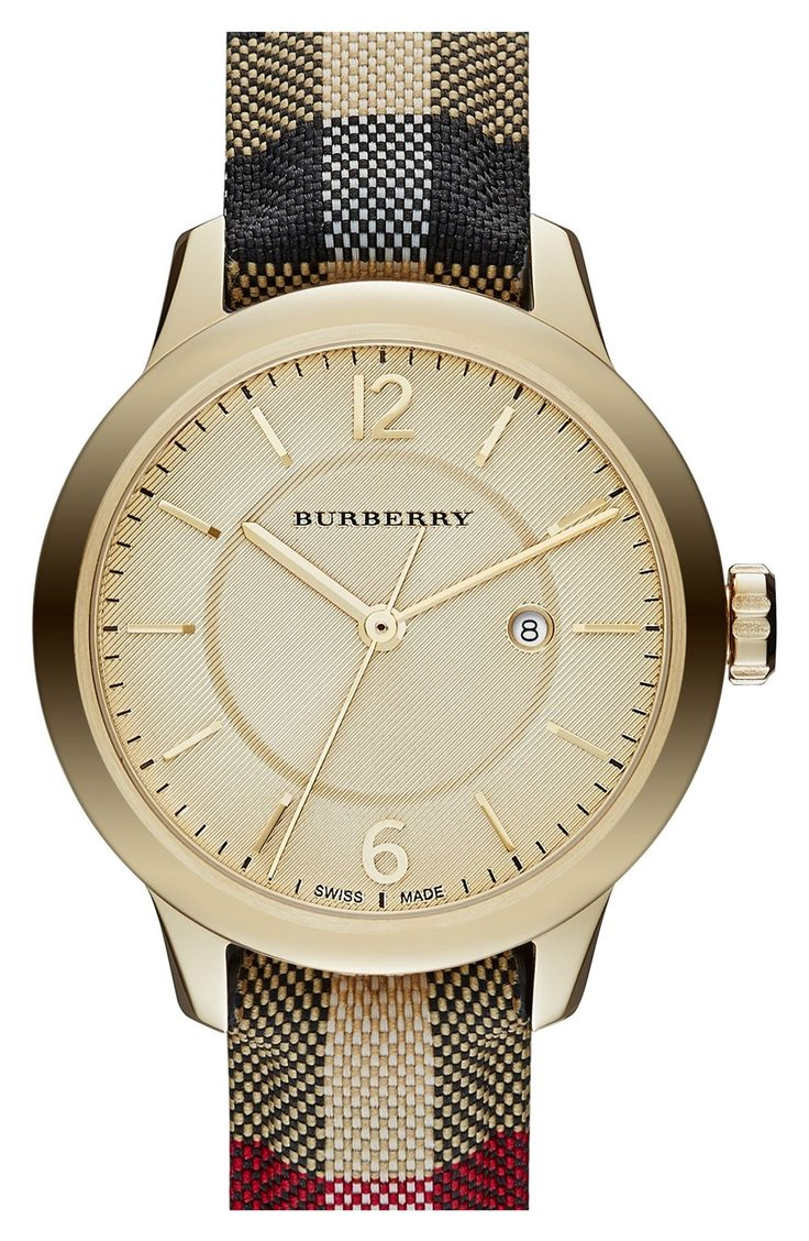Burberry is always a classic choice.