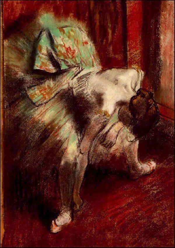 """""""Dancer in Green Tutu"""", 1880-1885 - Edgar Degas (French painter 1834-1917) #art"""