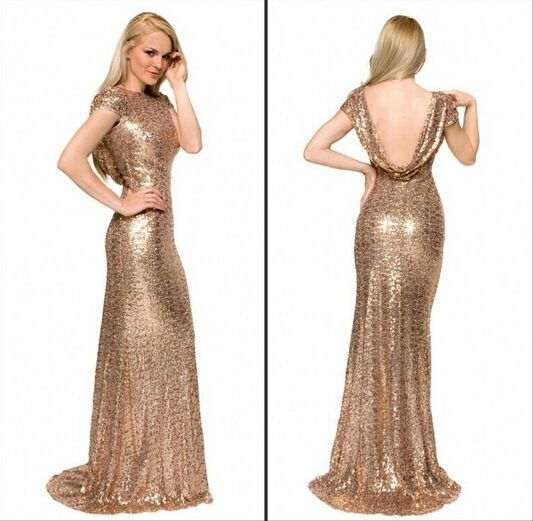 Cool Gold Dresses For Prom Gold Sequin Bridesmaid Dresses 2015 Low Back Sparkly Dress For Bridesmaids Gowns Vestido Dama De Honra-in Bridesmaid Dresses from Weddings & Events on Aliexpress.com | Alibaba Group
