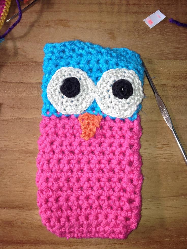 Free Crochet Pattern For I Phone Case : Crochet phone case owl ---- gehaakt telefoonhoesje uil ...