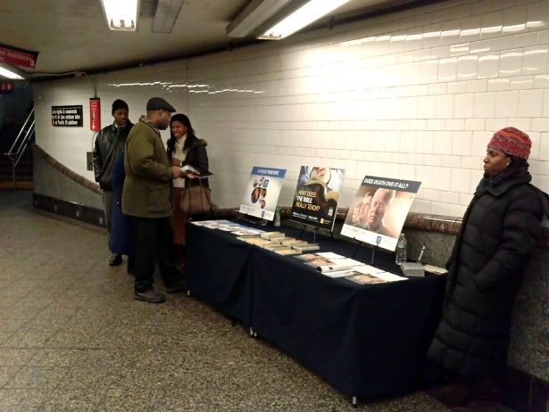 Battle of Beliefs: Baptist Evangelist, Nation of Islam Muslim, and Jehovah Witnesses Vie for Souls at New York's Subway Stations