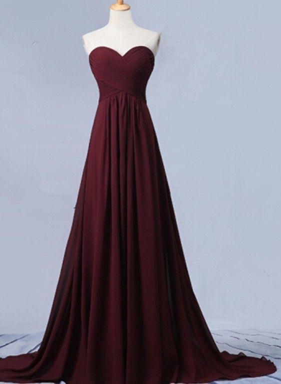 Simple Sweetheart Chiffon Prom Dress Sexy Sleeveless Prom