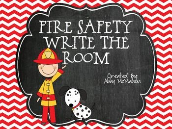 Fire Safety Write the Room FREE