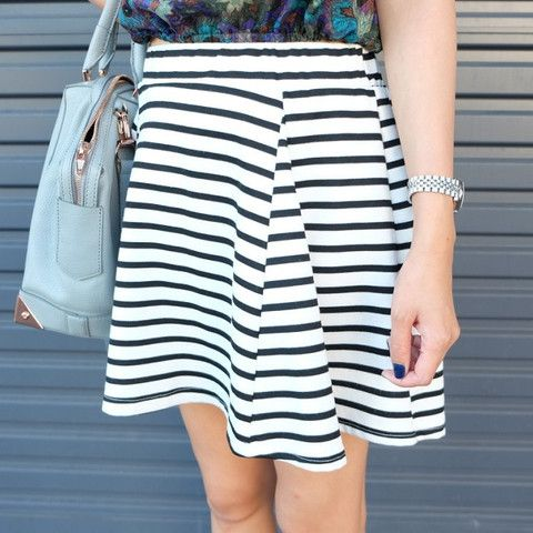 Tara Stripe Circle Skirt $55.00 http://www.helloparry.com/collections/new-arrival/products/tara-stripe-skirt