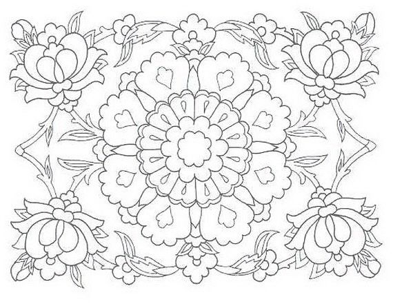 I like the corner flowers, using this for embroidery design pattern