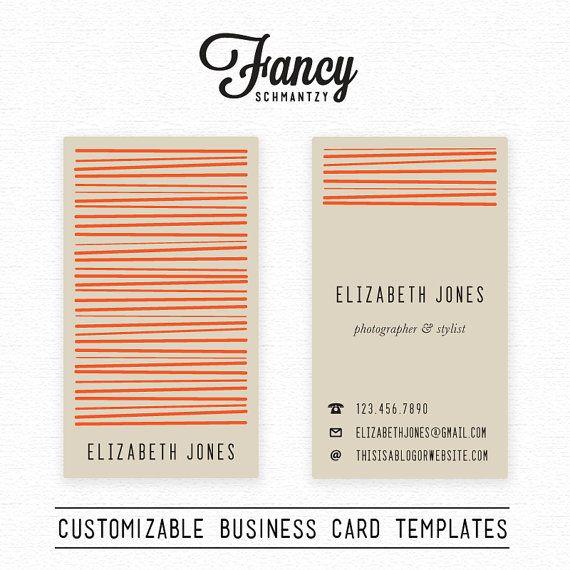 Business Card Template van FancySchmantzy op Etsy
