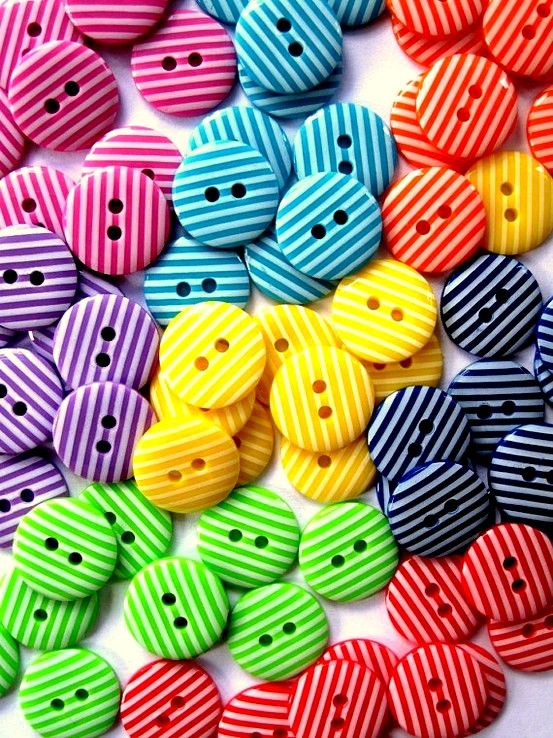 Striped Colored Buttons