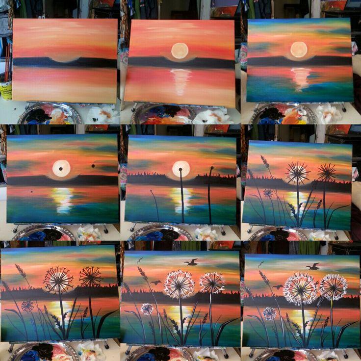 Teaching Dandelions at Sunset