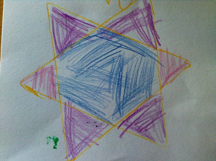 Ster inlegfiguur driehoek