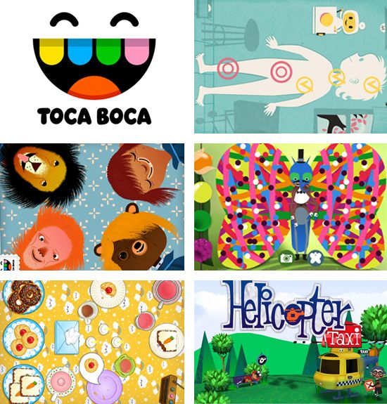 Toca Boca apps are very beautiful illustrated and nice to play. Especially like all the intro movies.