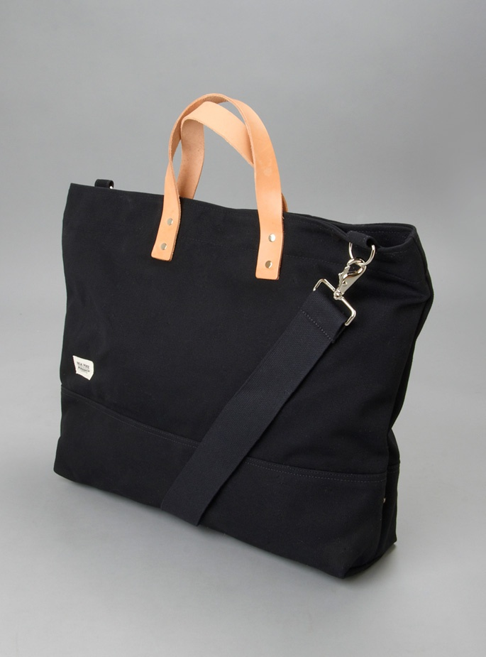 leather & canvas large tote bag.