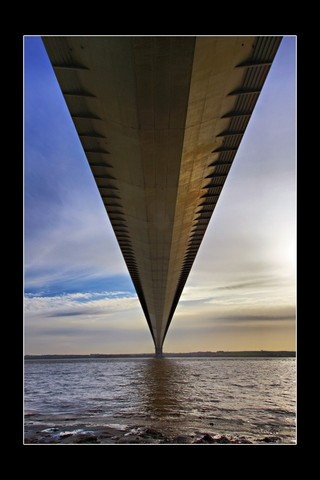 Kingston upon Hull, United Kingdom (humber bridge pov taken underneath one top) - a photo by Stephen Bowden