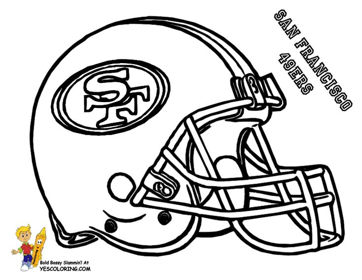 NFL 49ers coloring pages