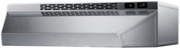 Summit H1720SS 20 Inch Under Cabinet Range Hood with 180 CFM Internal Blower, 2 Fan Speeds, Switchable Light and Recirculating Operation Only: Stainless Steel