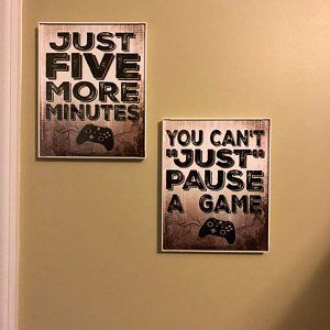 VIDEO GAME POSTER, You can't Just Pause a Game, X Box Controller, Video Game Wall Art, Mancave Decor, Game room Teenage bedroom Gamer