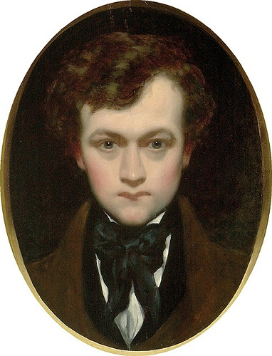 William Edward Frost (1810 - 1887)- Self-portrait as a young Man.