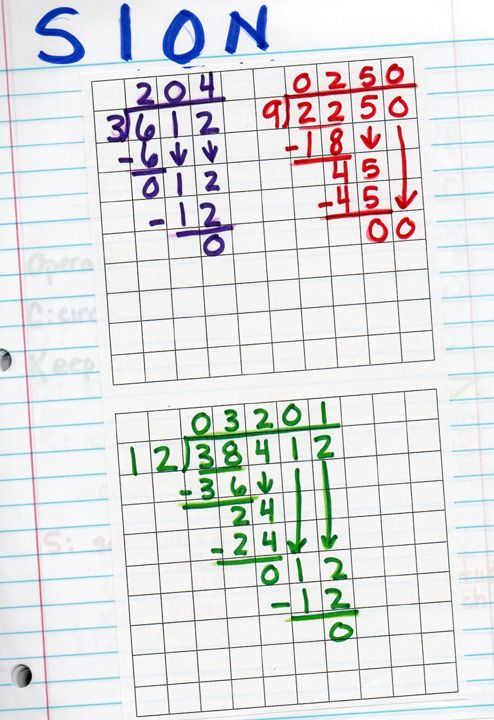 78+ images about Math - Division on Pinterest | Math notebooks ...