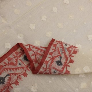 Bengal Cotton red and white dhakai all time favourite