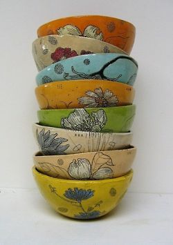 i really liked these bowls because they were different colors and they all have different sizes and designs.