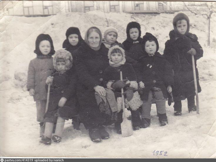 В городском детсаде 1952 год