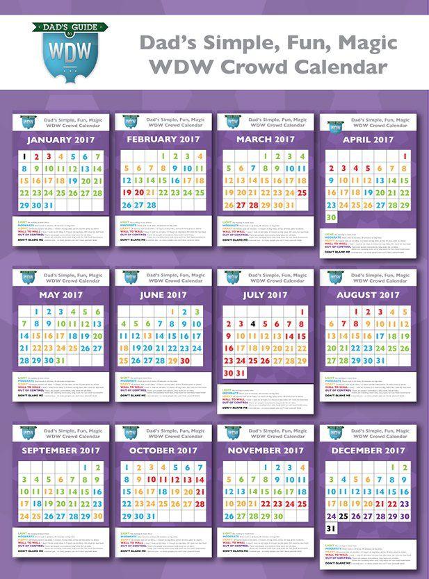 Dad's 2017 Disney World Crowd Calendars