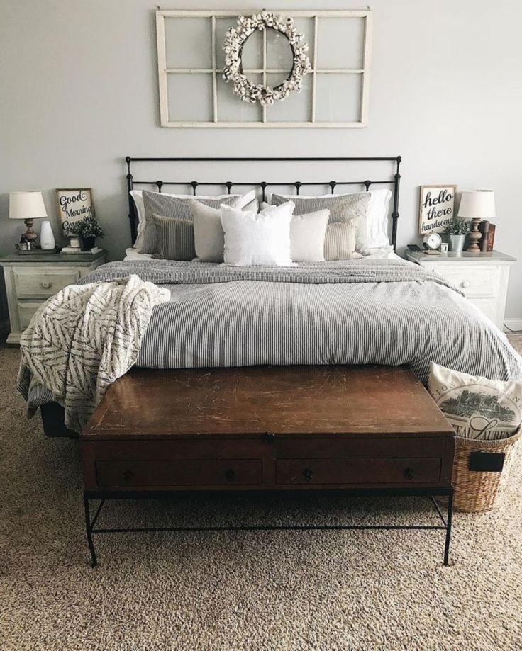 50+ Farmhouse Rustic Master Bedroom Ideas
