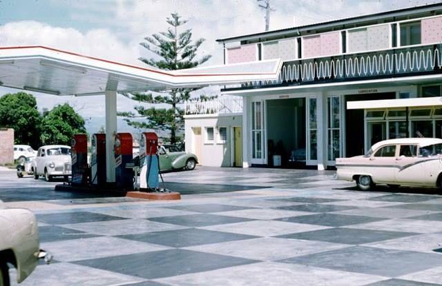 Ampol service station Surfers 1950s