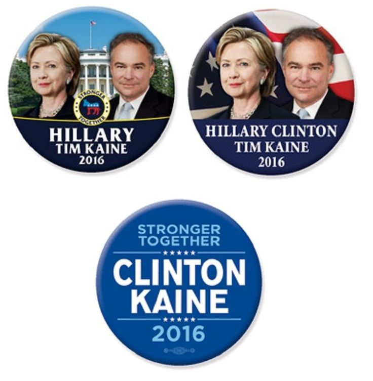 Hillary Clinton: Just Released! Hillary Clinton Tom Kaine 2016 Campaign Button Set Free Shipping BUY IT NOW ONLY: $9.95
