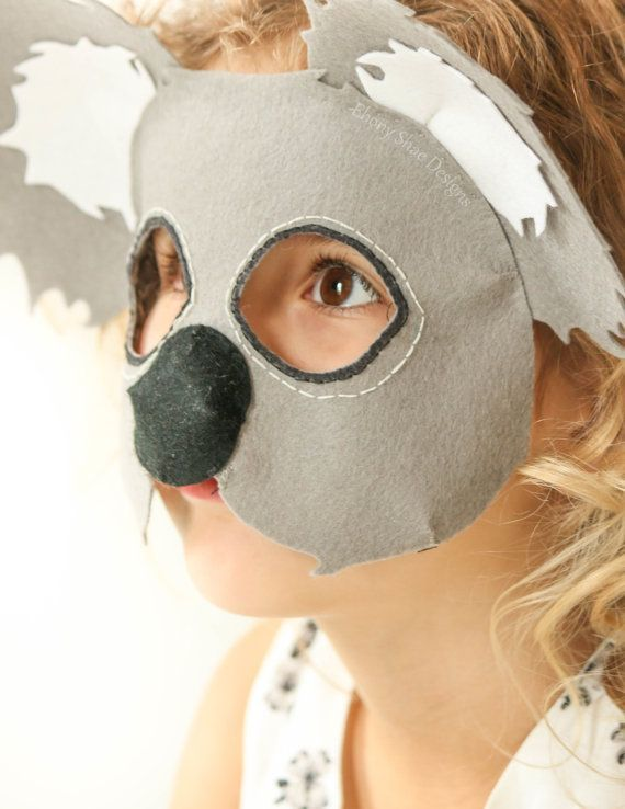 Koala Mask PDF sewing Pattern. Make Koala Lou this book week, or make your own party favors that kids will keep for years after the party is over!
