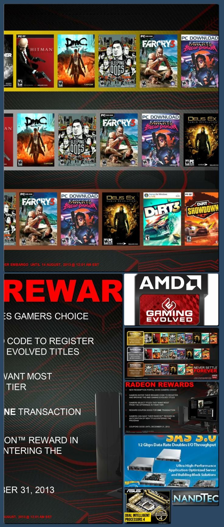 AnandTech | AMD Announces Never Settle Forever Bundle, Introduces Selectable Rewards [Collage made with one click using http://pagecollage.com] #pagecollage