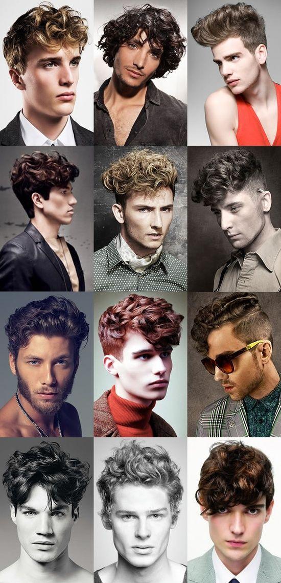 Cortes para caballero en cabello ondulado, chino o quebrado.