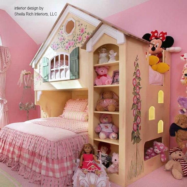 Perfect Chic Little Girlsu0027 Bedroom Ideas To Try At Home: Charming Traditional Kids  Bedroom Design For Little Girls Bedroom Ideas With Pink Wall Design And  Doll Home ...