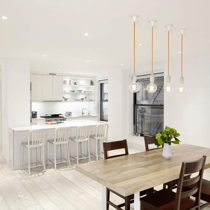 White Contemporary Dining Room Sets