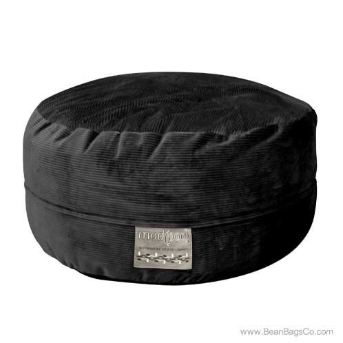 Mod Pod Classic 5 Foot Bean Bag Lounger - Deluxe Cord Black   ON SALE: $288.99 Free Shipping + NO Sales Tax.