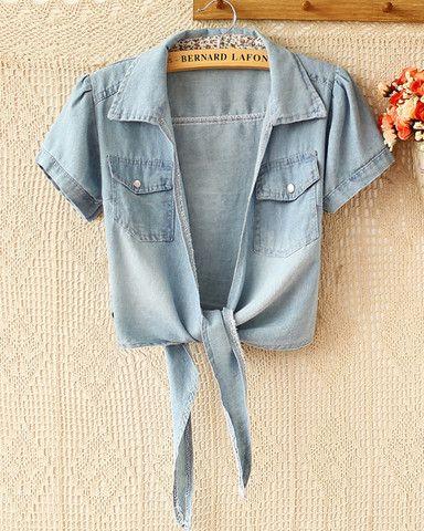 Spring and summer fashion denim shirt – Tepayi