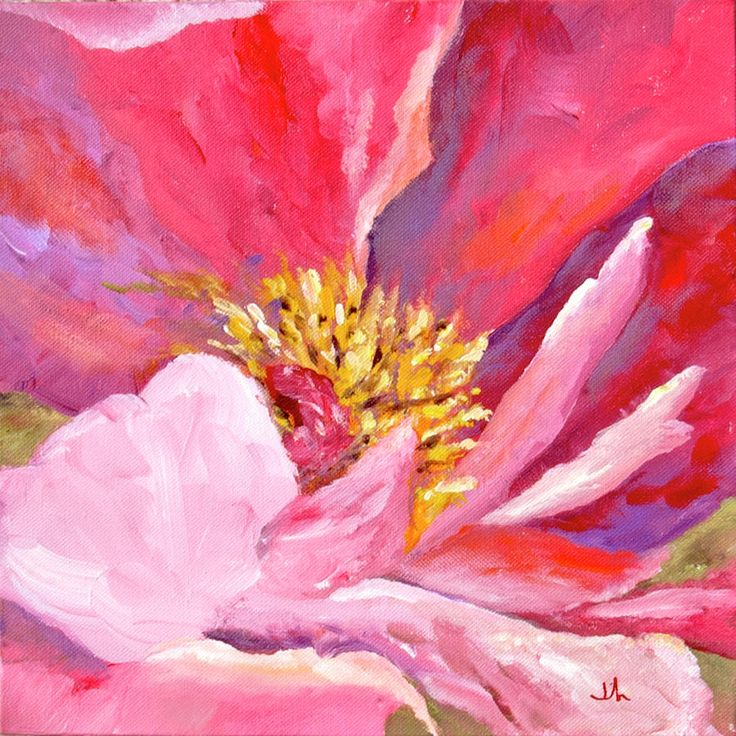 Pink Peony Painting by Jennifer Riefenberg