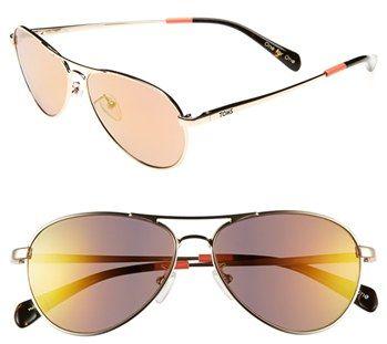#TOMS                     #Eyewear                  #TOMS #'Kilgore' #57mm #Aviator #Sunglasses #Shiny #Gold/ #Peach #Pink #Size  TOMS 'Kilgore' 57mm Aviator Sunglasses Shiny Gold/ Peach Pink One Size                                  http://www.snaproduct.com/product.aspx?PID=5421466