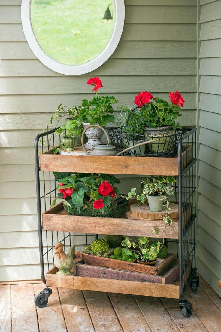 Grocer's Trolley Gardening Display