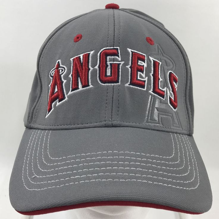 Los Angeles Angels Baseball Team Gray Red Baseball Cap Hat L XL 47Brand #FortySevenBrand #BaseballCap