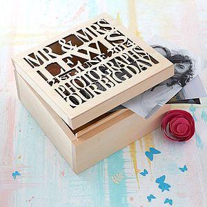 Personalised Wooden Wedding Keepsake Box - 100 less ordinary gift ideas