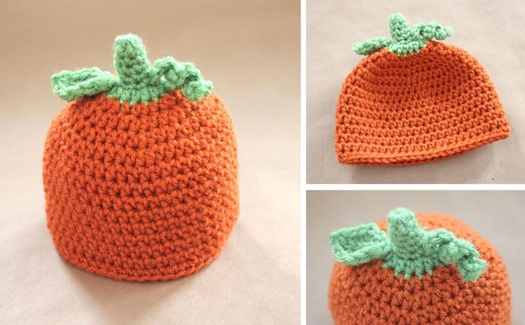Repeat Crafter Me: Crochet Pumpkin Hat Pattern